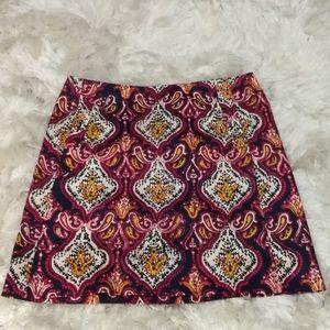 J. crew Paisley  print cotton sateen mini skirt